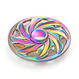 Colorful Wheel Round Spinner Fidget Spinner Metal Material EDC Hand Finger Spinner for High Speed Relieving ADHD, OCD, Anxiety (Rainbow)