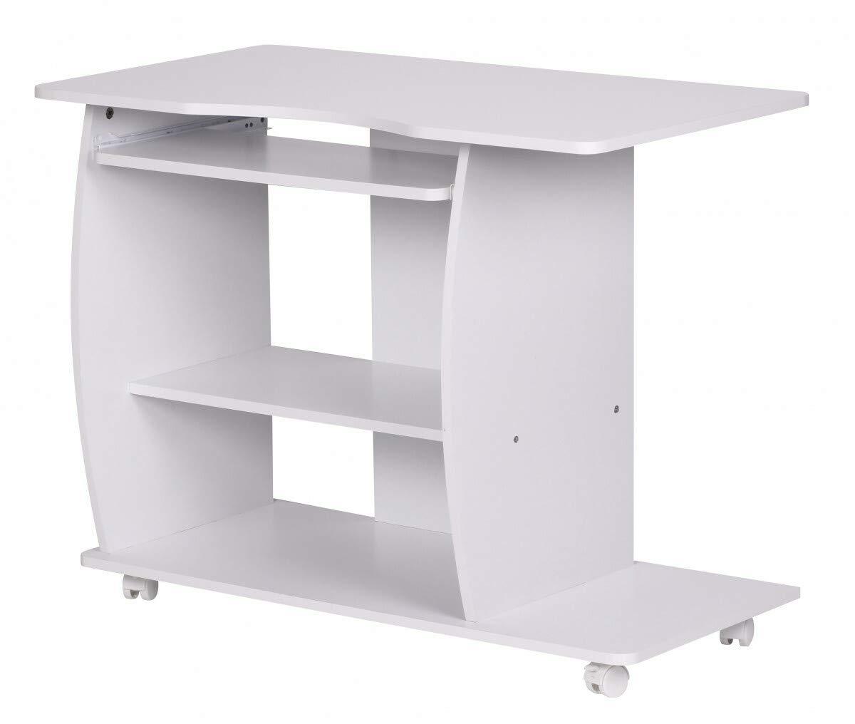 KS-Furniture Diana - Mesa de Ordenador con Ruedas (90 x 71 x 50 cm ...