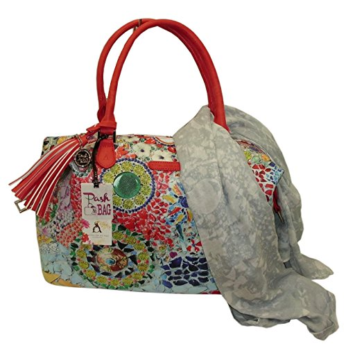L'Atelier du sac - Bolso de asas para mujer azul turquesa