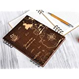Personalized Notebook Wood Notebook A5, A6 Gift for Traveler Wood Journal World Map Adventure Book Custom Engraved Writing Journal Lined Blank Pages Handmade Travel Diary