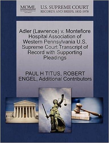 Adler (Lawrence) v  Montefiore Hospital Association of