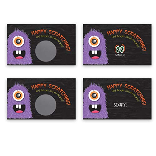 Halloween Monster Scratch Off Game Card - 25