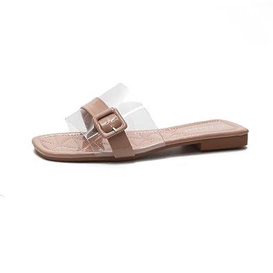 1c98ed0543865 Summer Woman Shoes Platform Bath Slippers Wedge Beach Flip Flops Slippers  for Women (Beige 35