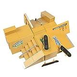 WayIn 8pcs Skate Park Kit Ramp Parts for Tech Deck Fingerboard Mini Finger Skateboard Fingerboards Ultimate Parks