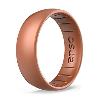 Enso Anneaux Classic Elements Series Silicone Ring-Or Rose