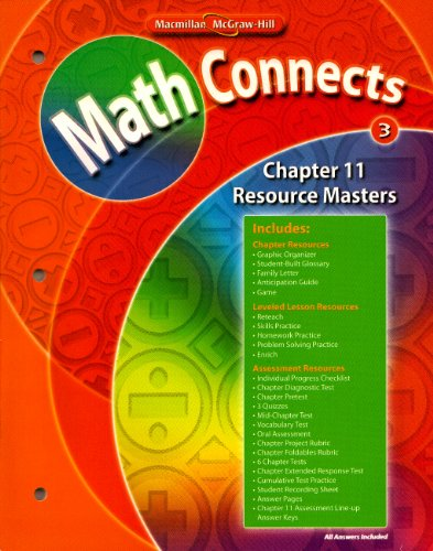 - Macmillan McGraw Math Connects Grade 3 Chapter 11 Resource Masters