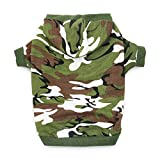 DroolingDog Dog Hoodie Small Medium Camo Dog Clothes Large Dog Shirt for Small Dogs, Large, Army Green