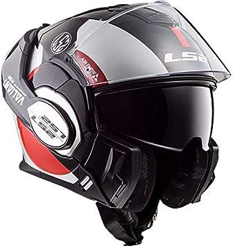 Amazon.es: LS2 503991732XS Casco de Motocicleta, Hombre, Blanco, Negro y Rojo, Extra-Small