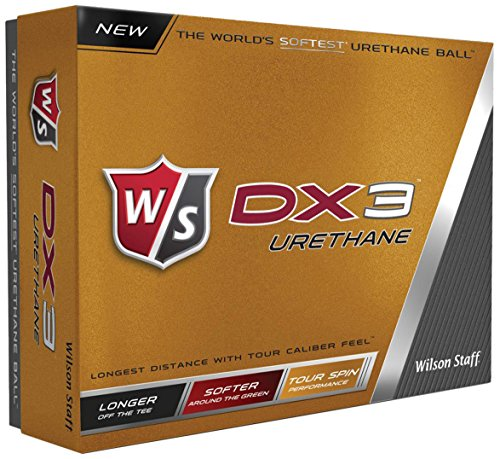 2016 Wilson DX3 Soft Urethane Tour Spin Performance Golf Balls - Dozen White by Wilson Golf