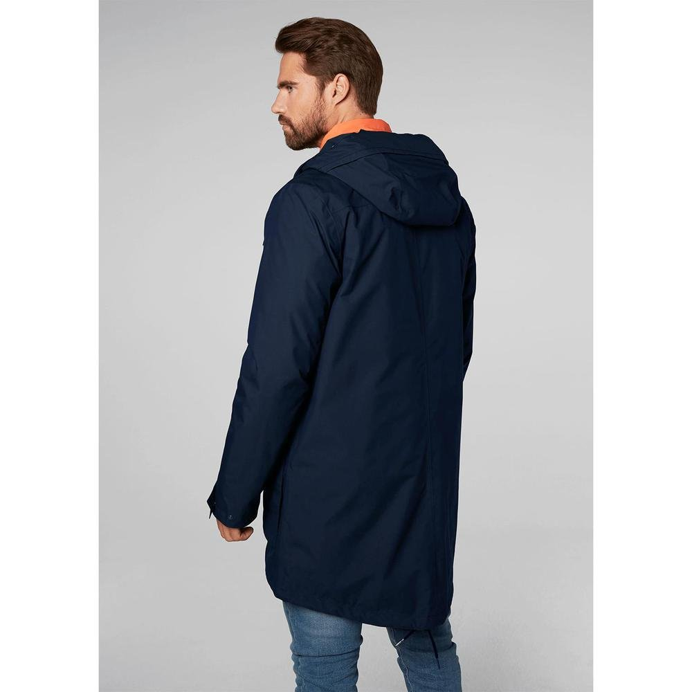 Helly Hansen Mens Captains Waterproof Windproof Hooded Rain Parka Jacket