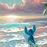 """Waiting for Waves"" Limited Edition Gallery Wrapped Canvas by Rob Kaz from the Disney Fine Art Treasures Collection; with"