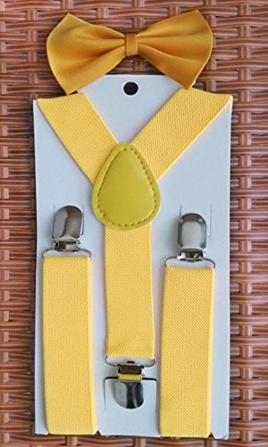 Blazers Proforms Costumes - Yellow Bow Tie Sets and Suspenders Sets for Kids - Toddler Suspenders Children Suspenders USA Patriotic (Dickie Bow)