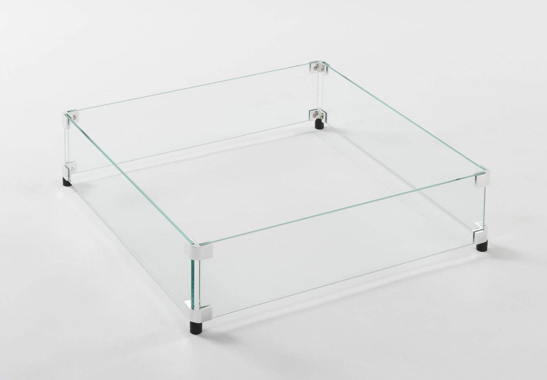 Fire Pit Glass Guard Size: 5.88'' H x 22.5'' W x 22.5'' D