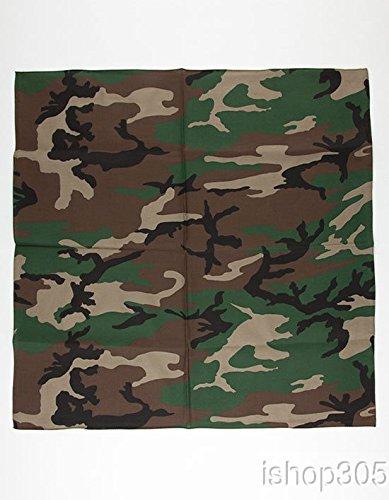 Rothco Bandana, Woodland Camouflage, 27'' x -