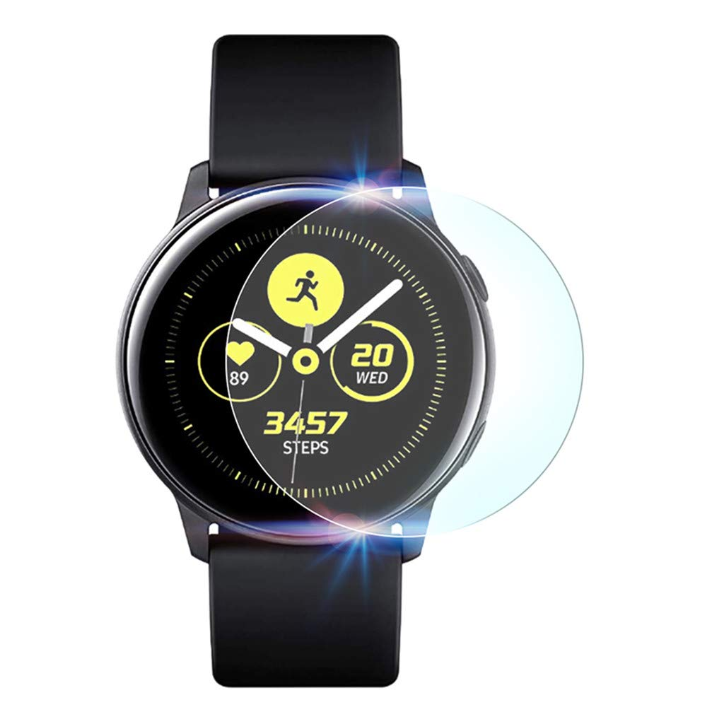 (2Pack) Tuscom Compatible Samsung Galaxy Watch Active 40mm Screen Protector, Explosion-Proof Anti Bubble TPU Screen Protector Gurad Film for Samsung Galaxy Watch Active (2Pack) by Tuscom@ (Image #2)