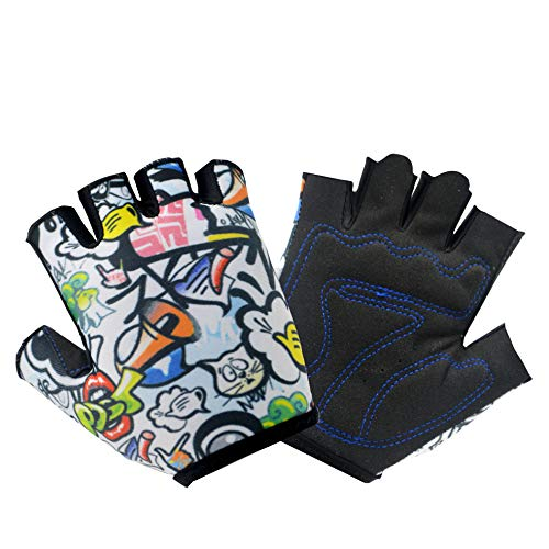 VMFTS Biking Gloves for Kids Toddler Boy and Girls Gloves 4 to 13 Year Old Childrens Grip Gloves for Monkey Bars,Cycling, Riding, Climbing, Scooter,Training,Golf