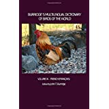 Burridge's Multilingual Dictionary of Birds of the World: Volume XI French (Français)