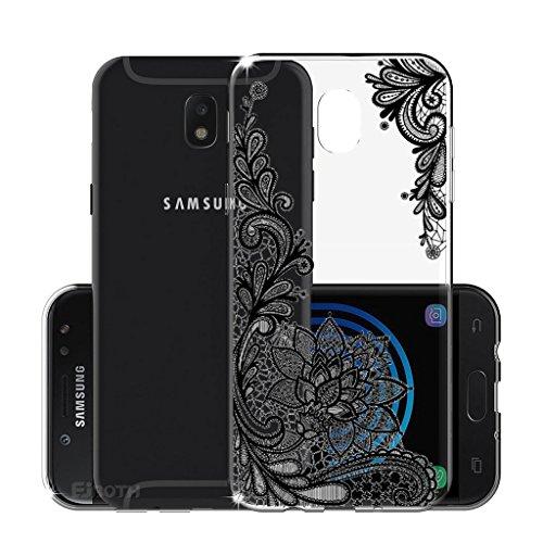 4 opinioni per Samsung Galaxy J5 2017 European Version Cover , YIGA Moda grigio fiore Cristallo
