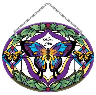 Suncatcher-MO325R-Tiffany Butterfly//Bless ()