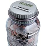 Shift 3 Auto-count Digital Coin Bank - Automatically Totals up Your Savings - Works with All U.S. Coins