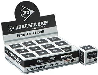 DUNLOP Competition Balles de Squash (Un Point) - 1Douzaine, Noir Dunslaz 1246.38256