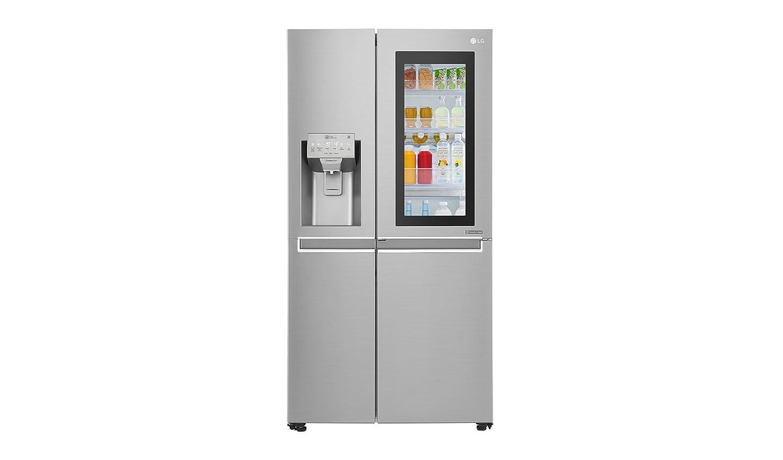 LG Electronics InstaView GSX 961 NEAZ Side-by-Side / A++ / 178 cm / 376 kWh/Jahr / 405 L Kühlteil / 196 L Gefrierteil / edelstahl / Pure and Fresh Luftfilterung im Kühlbereich [Energieklasse A++]
