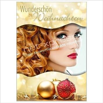 Plakat Für Weihnachtsdeko Beim Friseur A1 Werbeplakat Poster
