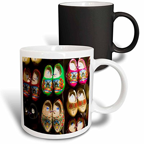 3dRose Danita Delimont - Markets - Netherlands, Amsterdam. Souvenir Dutch wooden shoes for sale. - 11oz Magic Transforming Mug (mug_277785_3) (Amsterdam Wooden Shoes)
