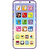 Kids Smartphone, Toddler Mobile Phone Toy with 8 Function Music, Animal Sounds, Piano, Drum, Learn Letters, Tell Stories, Learn Numbers from 8 months to 2 years