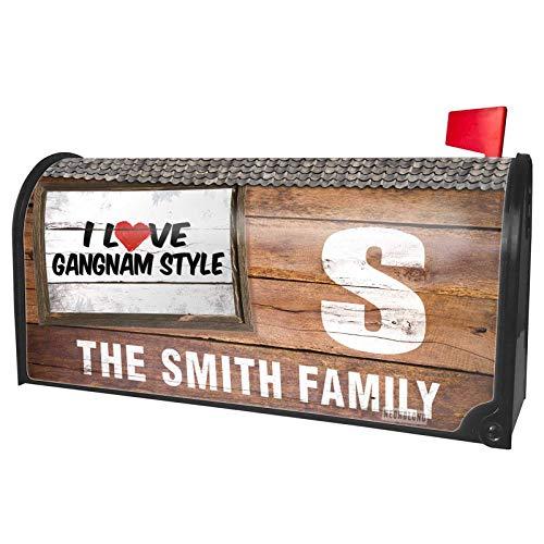 NEONBLOND Custom Mailbox Cover I Love Gangnam Style