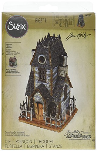 Sizzix 661591 Bigz L Die, Village Manor by Tim Holtz (Light Manor 3 Gate)