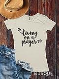 Living On A Prayer T-Shirt / music inspired T-shirt Top Tee Shirt Script Inspired design - Ink Printed