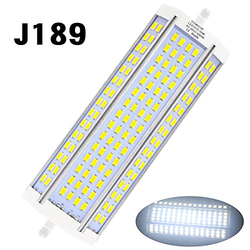 Rowrun R7S 50W 189mm LED Halogen Replacement J Type 120 PCS 5630SMD 6000K 4700LM Cold White Floodlight(Not - Mall Shops Square Park