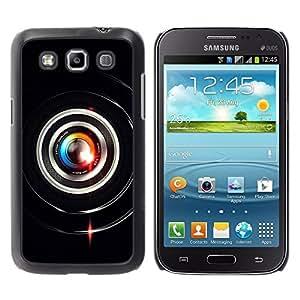 TopCaseStore / la caja del caucho duro de la cubierta de protección de la piel - Colorful Lens Flare Close Up - Samsung Galaxy Win I8550 I8552 Grand Quattro