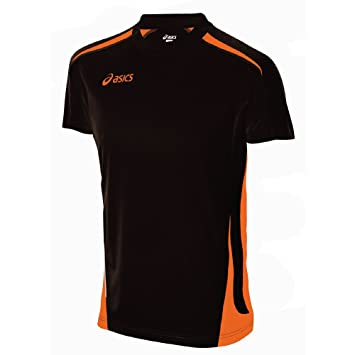 asics t shirt fille orange