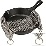"ALPHELIGANCE Cast Iron Cleaner- Stainless Steel Chainmail Scrubber for Pre Seasoned Skillet Pan,New Kitchen Tool for Washing Cookware (6"" × 8"")"