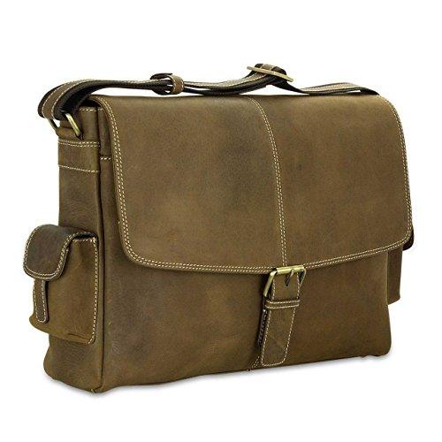 Bolso College Piel marrón piel auténtica bandolera Hombres Bolso negocios Maletín Bag de de STILORD 'Sydney' bolso SnRfBfY