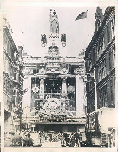 1935 King Jubilee Celebration Oxford Street London Store Elaborate Press - Oxford London Stores Street