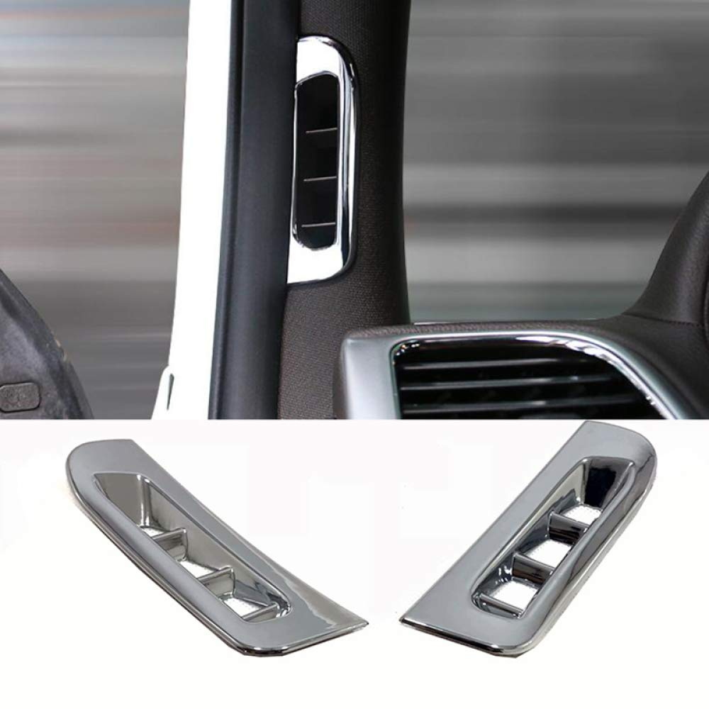 per Jeep Grand Cherokee 2011-2018 Gnnlor Car Interior Front A Pillar Air Vent Outlet Frame Cover Trim Sticker Interior