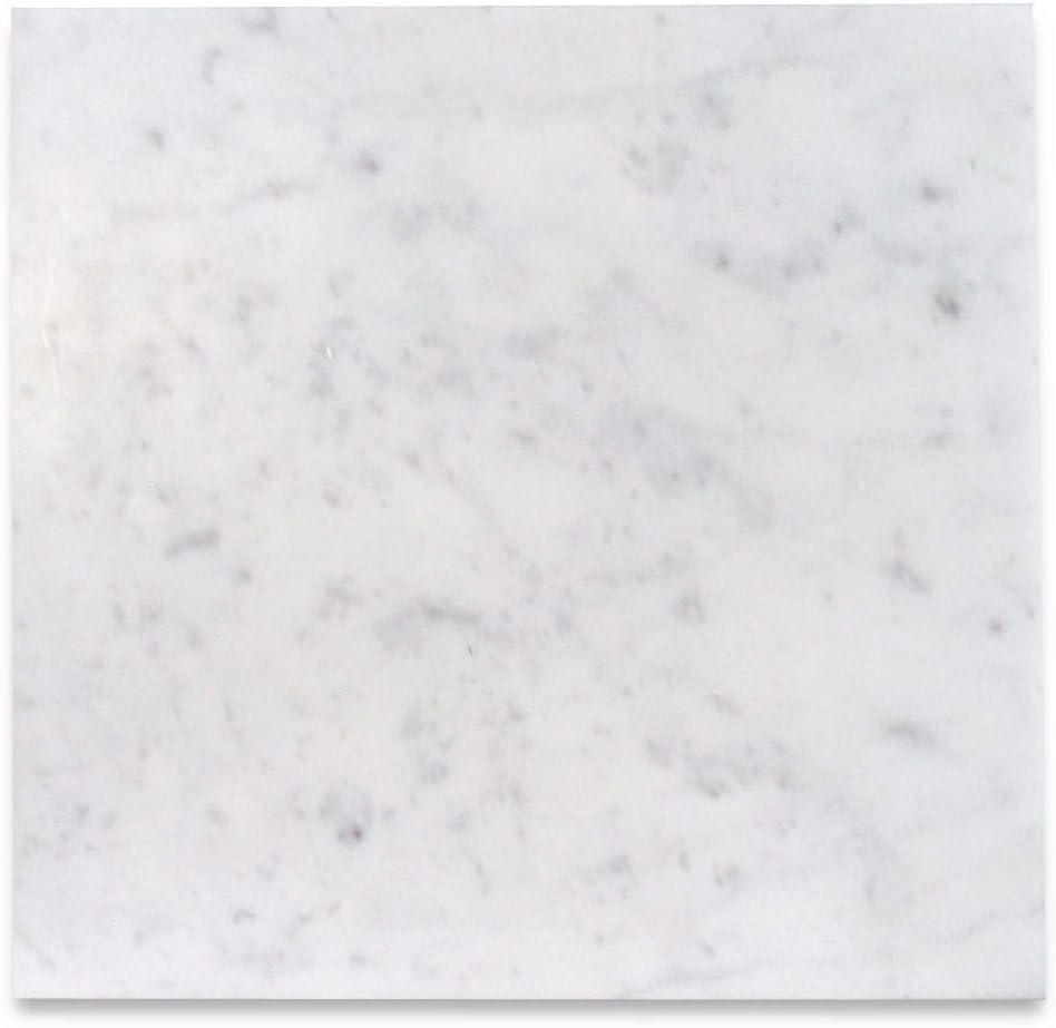 Stone Center Online Carrara White Marble 12x12 Tile Honed For Kitchen Backsplash Bathroom Flooring Shower Surround Dining Room Entryway Corrido Spa 100 Sq Ft Amazon Com