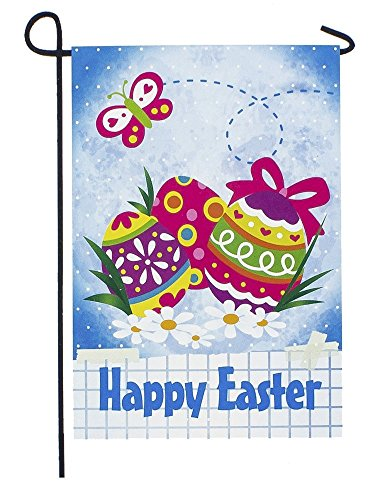"ArtVerse 12"" x 18"" 2 Sided Eggs Garden Flag from ArtVerse"