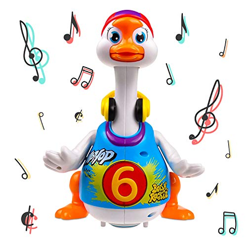 Walking, Talking, Singing and Dancing Musical Hip Hop Goose TG656 – Cool Dancing Toy for Boys and Girls Kids or Toddlers – Gift for 1 2 3 4 5 Year Old Boy or Girl by ThinkGizmos (Trademark Protected)