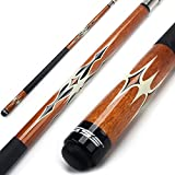 GSE Games & Sports Expert 58' 2-Piece Canadian Maple Billiard Pool Cue Stick(4 Colors, 18-21oz) (Brown - 21oz)