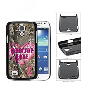 Camo Tree Pink Heart & Deer Head Country Love Samsung i9190 Galaxy S4 Mini Hard Snap on Plastic Cell Phone Cover by Maris's Diary