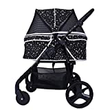 SUV-Class Pet Stroller, Collapsible Size Medium-Sized Dog/cat with A Universal Wheel, Walking Car, Multi-Range Adjustment Armrest, Suitable for All People