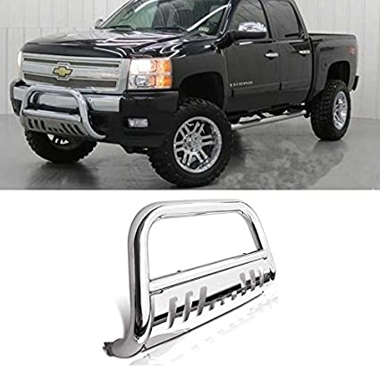 amazon carepair bull bar skid plate front push bumper grille 2014 Silverado Spoiler carepair bull bar skid plate front push bumper grille guard stainless steel chrome for 2014 2015