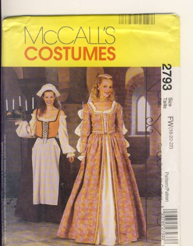 [McCall Sewing Pattern 2793 - Use to Make - Misses Elizabethan Costume - Misses Sizes 18, 20, 22] (Elizabethan Costume Patterns)