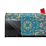 Throwpillow Mailbox Covers Magnetic Vector Ornament Floral Bandana Print, Silk Neck Scarf Or Kerchief Square Letter Post Box Cover Wrap Decoration Welcome Home Garden Outdoor 25.5x21 inch