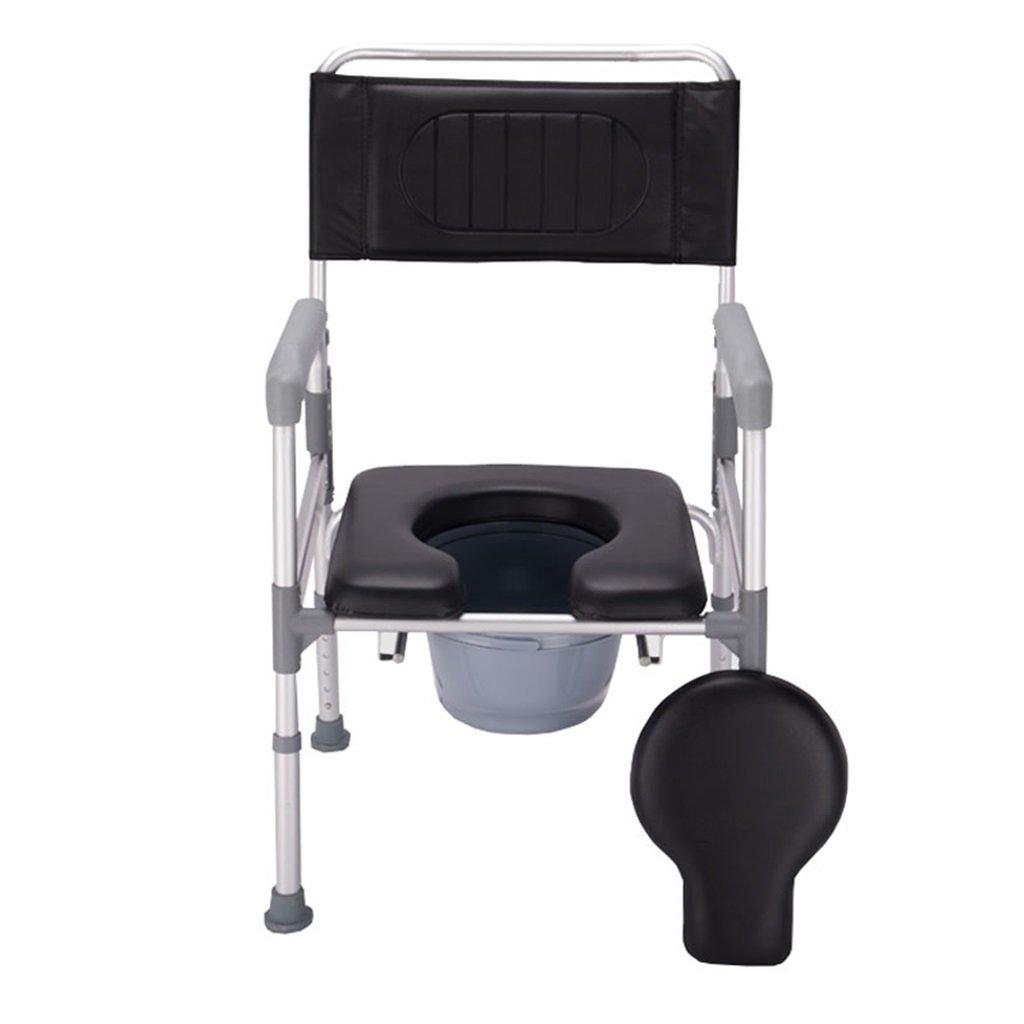 折りたたみ式椅子椅子丈夫で耐久性のある高さ調整可能な滑り止め手すりトイレシートバスルームシャワースツールポータブルアルミ合金チューブトイレチェア障害者/妊婦/高齢者最大150kg B07F8QZWL2