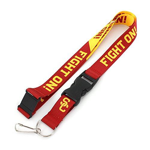 aminco NCAA USC Trojans Slogan Lanyard Fan Keychain, Red ()